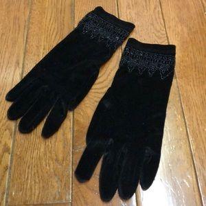 vintage April Cornell beaded gloves
